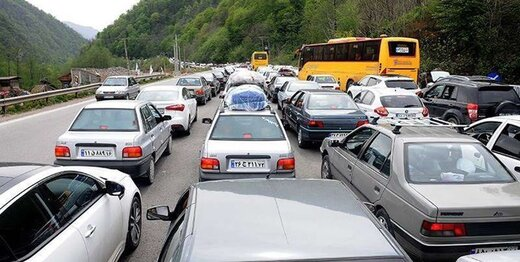 ترافیک سنگین در محور فیروزکوه