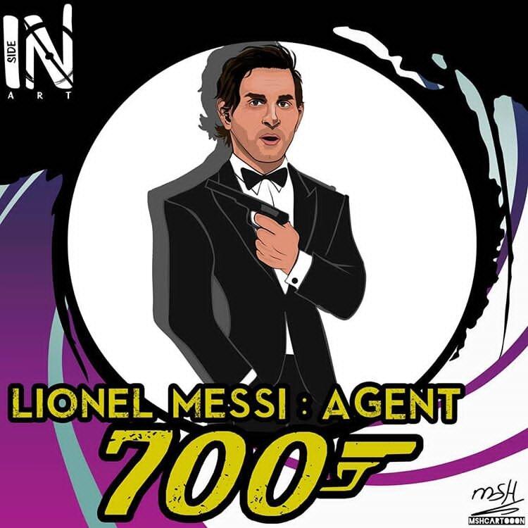 ببینید: مسی مامور 700 شد!