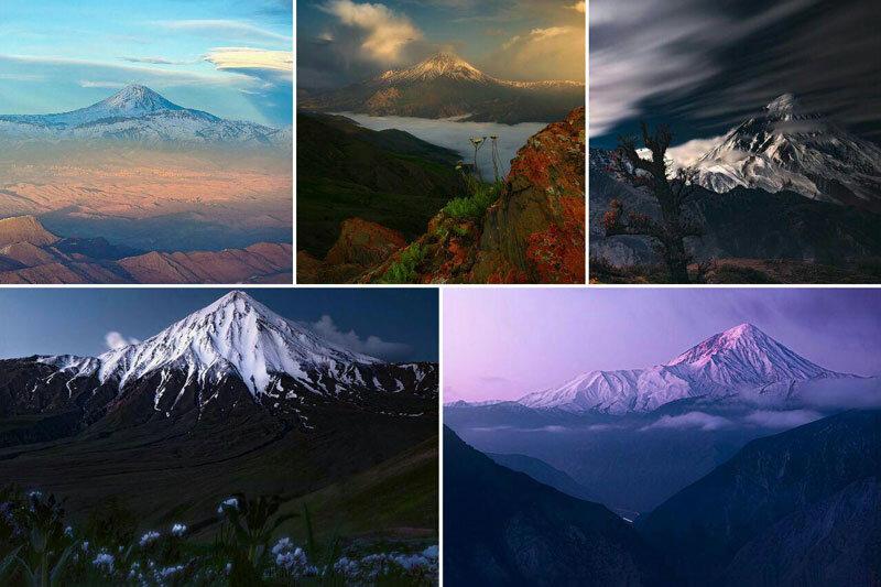 ببینید | تصاویر دیدنی از از قلهی دماوند