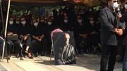 عکس | افسانه بایگان با ماسک در مراسم خاکسپاری سیروس گرجستانی