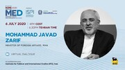Zarif to address 2020 Mediterranean Dialogues