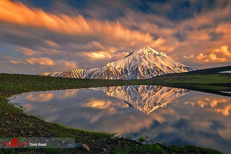 عکس | تصویری زیبا از قله دماوند