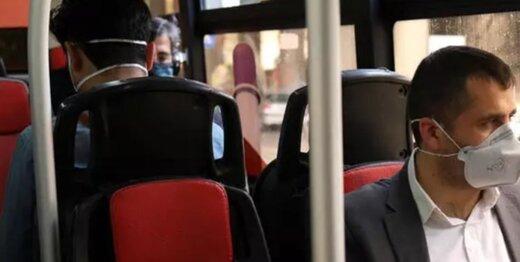 همه مسافران اتوبوس امروز ماسک زدند