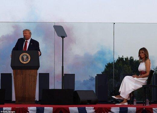 ترامپ در روز استقلال هم دست از حمله به رسانهها برنداشت/عکس