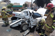 تصاویر   تصادف خونین کامیون و سمند در بزرگراه بسیج تهران