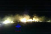 ببینید | آتش سوزی وسیع در ارتفاعات کوه بهار جاجرم