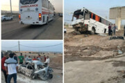 ببینید | تصادف مرگبار اتوبوس و پژو پارس در آزاد راه قزوین - کرج