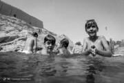 تصاویر | آبتنی در چشمه تاریخی تهران بدون ترس از کرونا