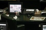 ببینید | تصویری از میز غلامرضا تاجگردون که اعتبارنامه اش امروز در مجلس رد شد
