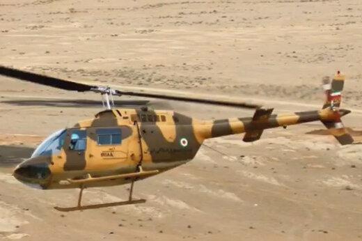 ببینید | پرواز تمرینی در ارتفاع پایین و خطرناک بالگرد ارتش