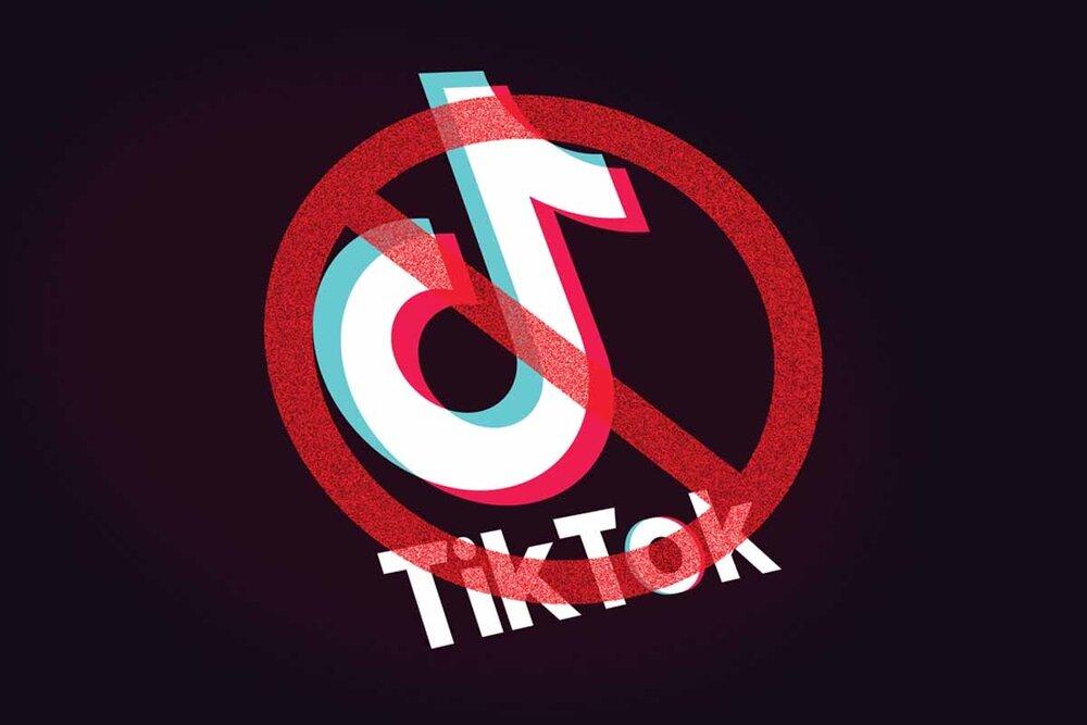 مسدودشدن تیک تاک / علامت اخطار روی لوگوی تیک تاک