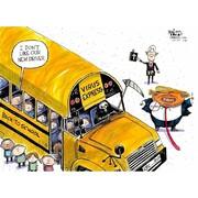 ببینید: ترامپ از اتوبوسهای جدید مدارس رونمایی کرد!