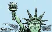 ببینید: مجسمه آزادی در آمریکا، عوض شد!!