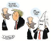 ببینید: بالاخره ترامپ هم ماسک ویژه زد!