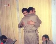 ببینید | تصویری کمتر دیده شده از لحظه وداع سردار شهید قاسم سلیمانی با همرزمانش
