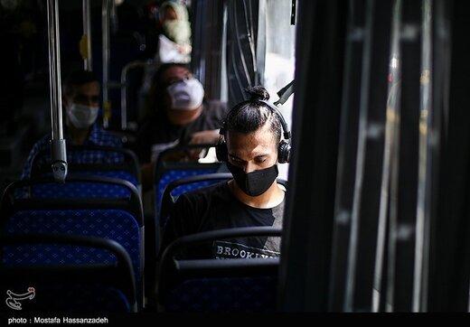 استفاده از ماسک در اتوبوسهای شهری گرگان