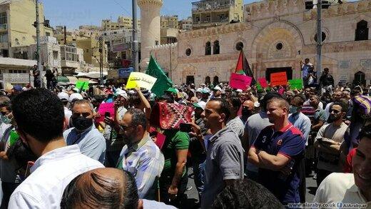 اردنیها علیه اسرائیل به خیابانها آمدند