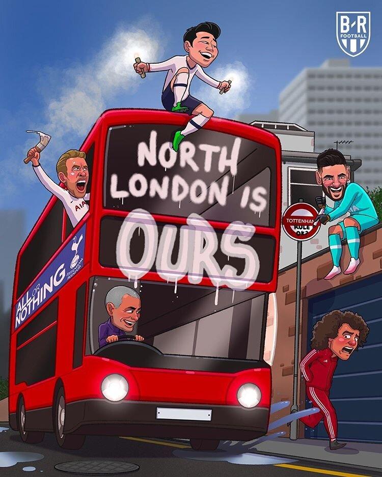 ببینید: مورینیو شمال لندن رو تصرف کرد!