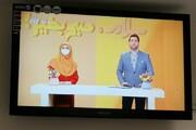 عکس | رعایت پروتکل بهداشتی توسط مجری تلویزیون