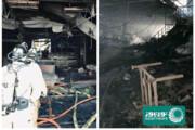 ببینید | نخستین تصاویر از داخل ناو آمریکایی «یواساس بونهوم ریچارد» که در آتش سوخت