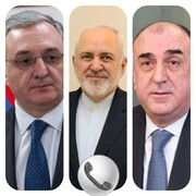 گفتگوی تلفنی ظریف با وزیران خارجه آذربایجان و ارمنستان
