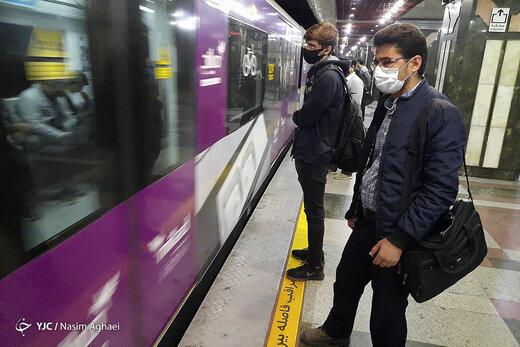 پلیس: ورود مسافران بدون ماسک به مترو ممنوع است