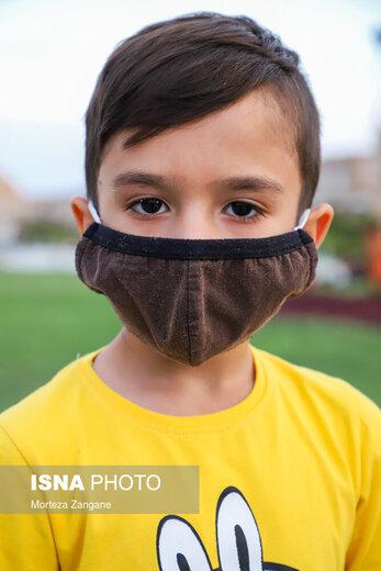کودکان هم ماسک می زنند!