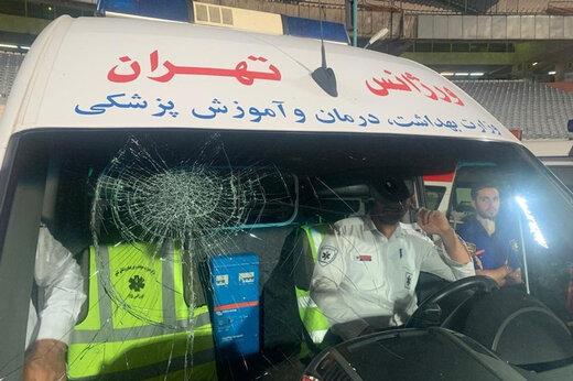 ببینید | بلایی که مسعود شجاعی بر سر آمبولانس استادیوم آزادی آورد!
