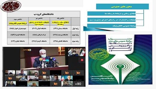 روابط عمومی دانشگاه سمنان بر سکوی نخست جشنواره روابط عمومیهای وزارت علوم ایستاد