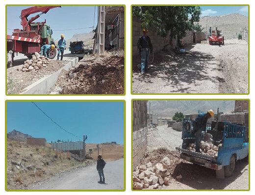 اجرای پروژه ی  تبدیل سیم به کابل و رفع افت ولتاژ در روستای دره نامداری شهرستان لردگان