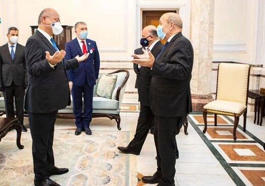 برهم صالح در دیدار با لودریان: عراق منتظر حمایت بینالمللی است