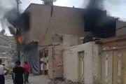 ببینید | تصاویر انفجار کپسول گاز خانگی در مسجدسلیمان
