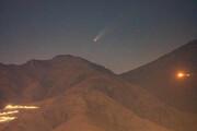ببینید | تصویری دیدنی از عبور ستاره دنبالهدار از آسمان تهران