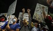 تظاهرات در تلآویو در اعتراض به نتانیاهو/ ۵۰ نفر بازداشت شدند