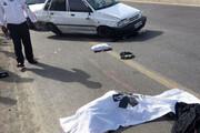 فوت موتورسوار بیاحتیاط پس از برخورد به جدول کنار خیابان
