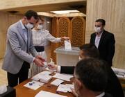 ببینید | بشار اسد و همسرش اسماء پای صندوق انتخابات پارلمانی سوریه