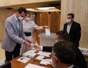 اسد و همسرش رای دادند/ عکس