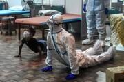 تصاویر   تمرین یوگا بیماران کرونایی با پزشکان در دهلی هند
