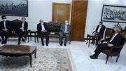 دیدار وزیر خارجه ایران با رئیس شورای عالی قضایی عراق/عکس