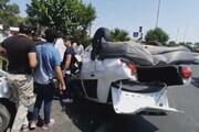 ببینید | چپ شدن پراید در تصادف با رانا در شهر ری