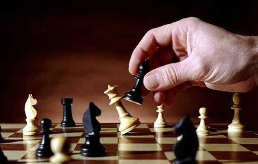 یک ازدواج تمام شطرنجی/عکس
