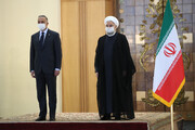 President Rouhani officially welcomes Iraqi PM in Tehran