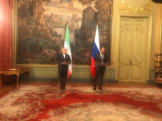 ظريف : العلاقات الايرانية الروسية بلغت اعلى مستوياتها اليوم