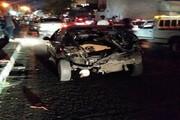 عکس | خسارت سنگین ۱۶ خودرو به خاطر برخورد با میکسر بتن ساز در تهران