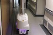 ببینید | روبات های ضدعفونی کننده در بیمارستان های انگلیس