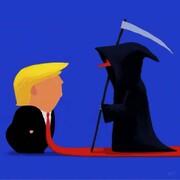ببینید: کراوات قرمز ترامپ برای استقبال از مرگ!