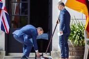 عکس | همکاری عجیب و غریب وزرای خارجه آلمان و انگلیس در یک دیدار رسمی!