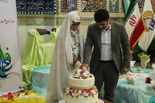 جشن ازدواج زوجین جوان در آستانه اشرفیه