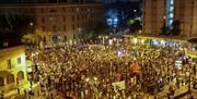 پلیس 55 معترض علیه سیاستهای نتانیاهو را دستگیر کرد/ عکس