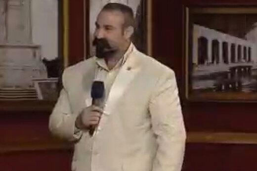 ببینید | ترس مهران مدیری از مرد قوی هیکل در برنامه دورهمی!